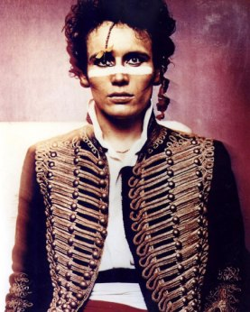 Adam Ant as the Blueblack  Hussar in the 1980s. This image used in accordance with Fair Use Policy.