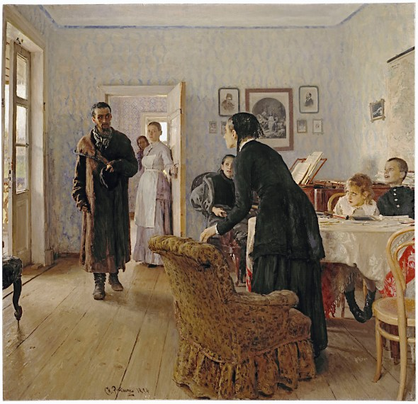 Ilya Repin They Did Not Expect Him