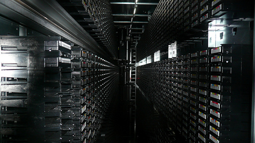 Tape Library of CERN, Geneva  © gruntzooki with CCLicense