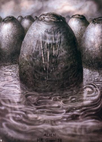 Alien egg, H.R. Giger image © dream side with CCLicense