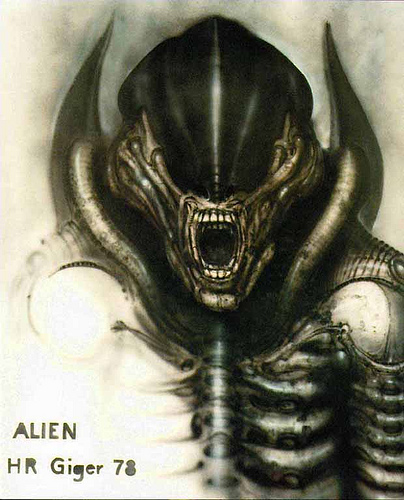 The Alien, H.R. Giger image © dream side with Fair Use Policy