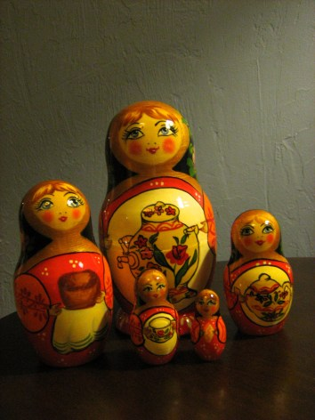 Matryoshka of serving females