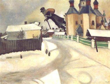 Marc Chagall, Over Vitebsk, 1913
