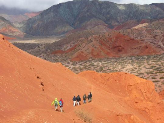 Trekking in Quebrada de las Conchas, Cafayate, Salta Province, Argentina © Jlla00 with CCLicense
