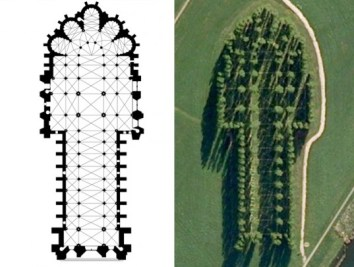 Rheims Floorplan with aerial view of De Groene Kathedraal