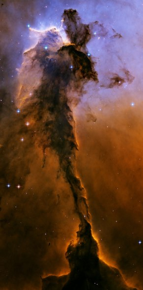 Towering 9.5 light year (90 trillion km) spire in the Eagle Nebula Credit: NASA, ESA, and The Hubble Heritage Team STScI/AURA)