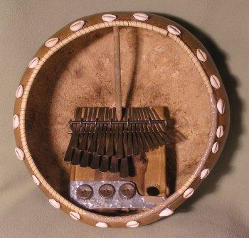 Mbira dzavadzimu in a deze (Calabash shell) © Alex Weeks with CCLicense