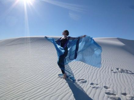 Irina Akulenko at White Sands, New Mexico, USA © Irina Akulenko from her website