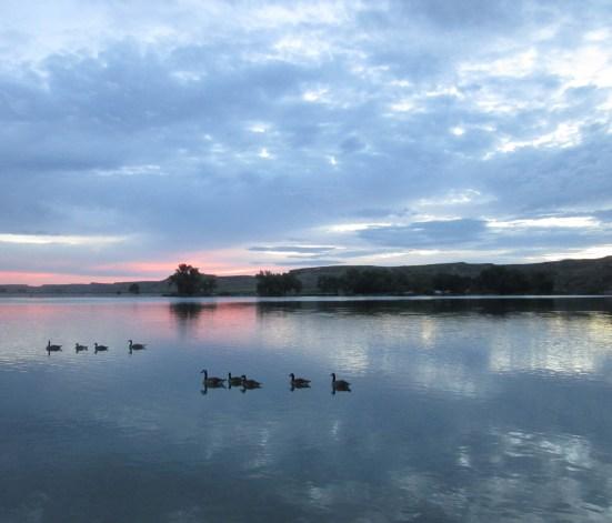 Cloudy Dawn over Lake Scott