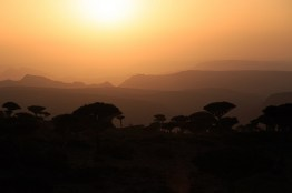 Sunset on Firmhin Plateau, Socotra, Yemen