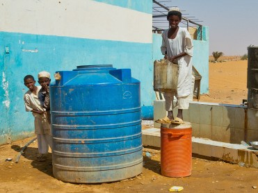 Boys at a rest stop between Khartoum and Karima, Sudan