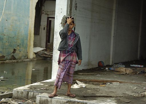512px-US_Navy_050114-N-6817C-229_A_young_Indonesian_boy_appears_overwhelmed_by_the_devastation_caused_by_the_Dec._26_tsunami.jpg