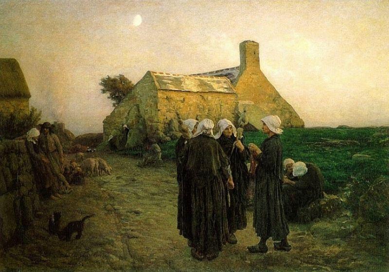 Breton, Evening in the Hamlet of Finistere