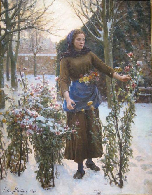 Breton, Last Flowers, 1890