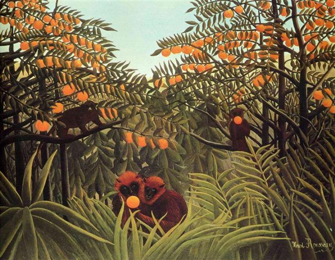 Rousseau, Apes in the Orange Grove