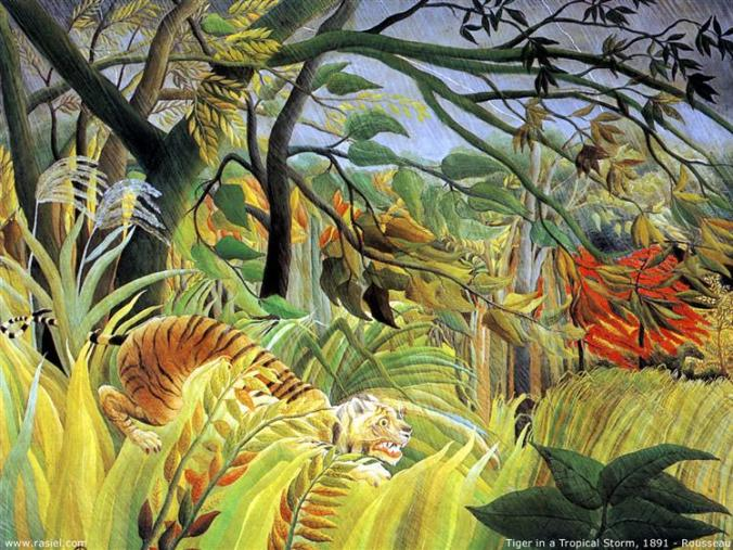 Rousseau, Tiger in a Tropical Storm