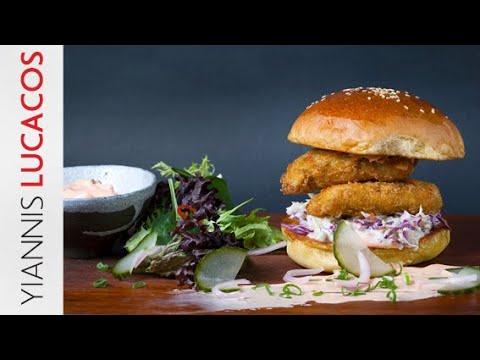 Crispy chicken burger | Yiannis Lucacos