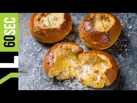 Γεμιστά ψωμάκια με τυριά & μπέικον | Yiannis Lucacos