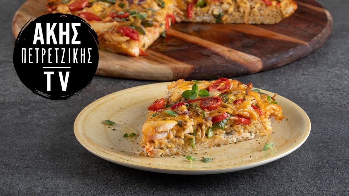 Healthy Φριτάτα με Ζυμαρικά και Κοτόπουλο (high protein) Επ. 15 | Kitchen Lab TV | Άκης Πετρετζίκης