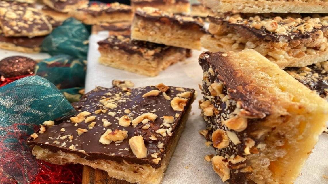 Μπάρες βουτύρου με σοκολάτα και ξηρούς καρπούς Λάμπρος Βακιάρος