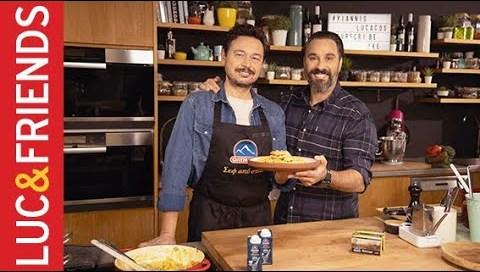 Ριγκατόνι με κοτόπουλο, μπέικον και σάλτσα σαφράν   Yiannis Lucacos