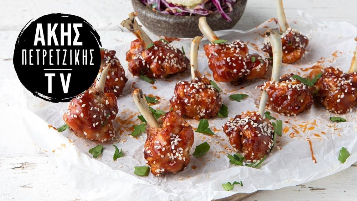 Φτερούγες Κοτόπουλου με Σάλτσα BBQ (Lollipops) Επ. 65 | Kitchen Lab TV | Άκης Πετρετζίκης