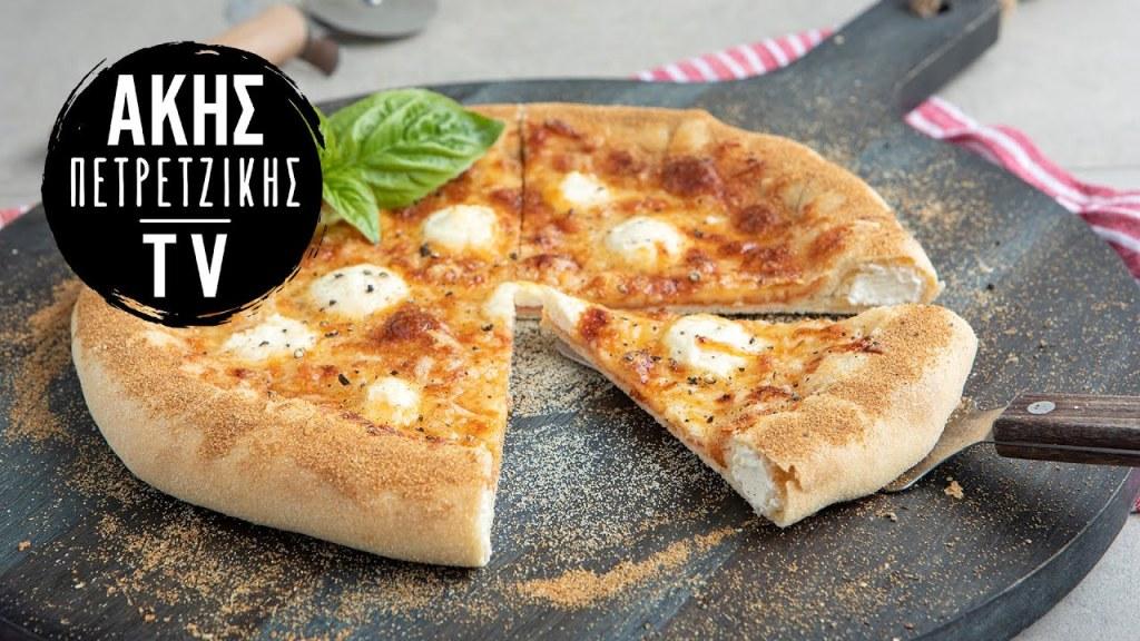 Πίτσα με Γεμιστή Κρούστα Επ. 63   Kitchen Lab TV   Άκης Πετρετζίκης