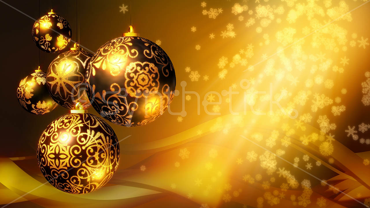 Christmas Background Gold Stock Video Footage Synthetick
