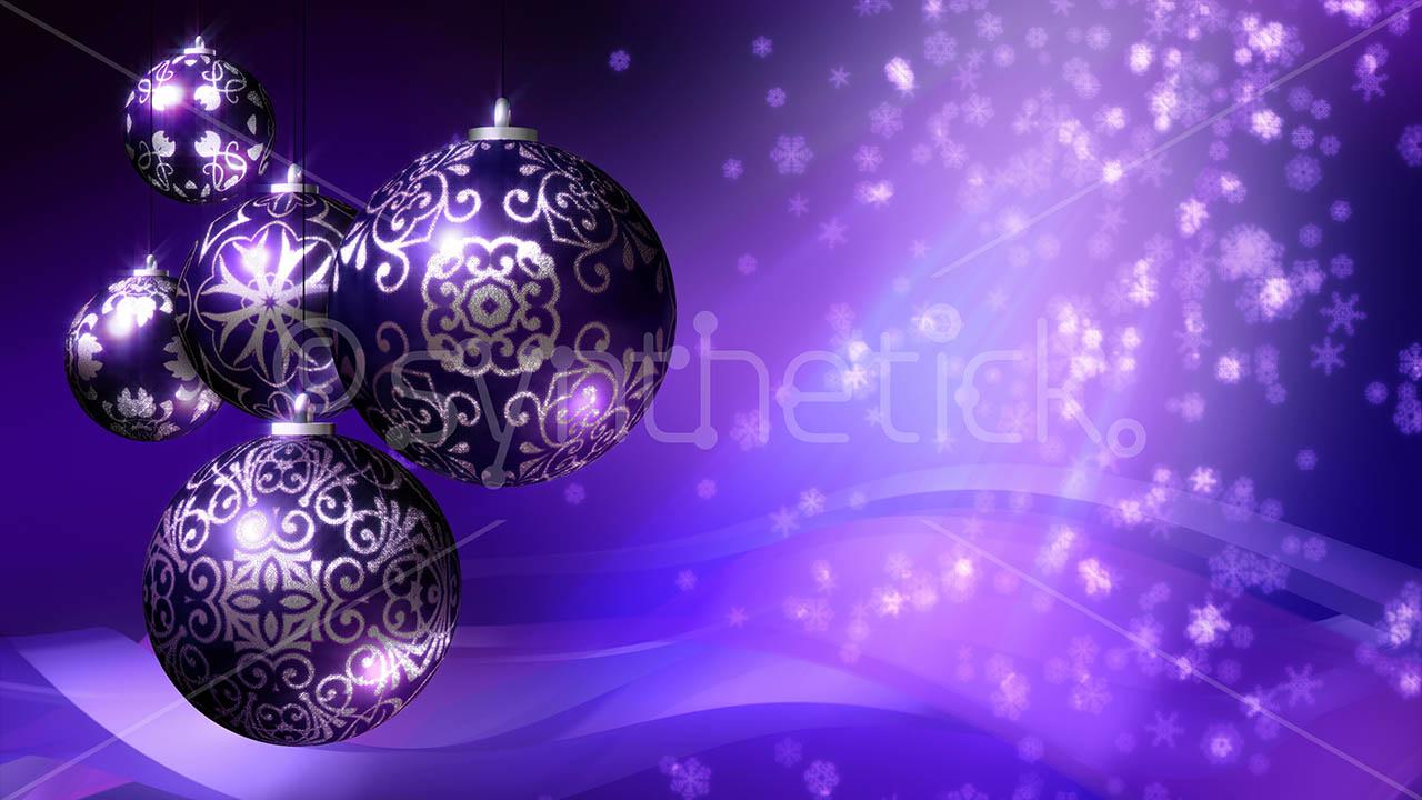 Christmas Background Purple Stock Video Footage