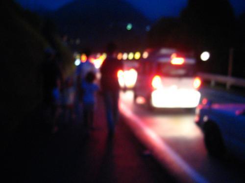 奥物部湖水祭2011 会場に向かう途中