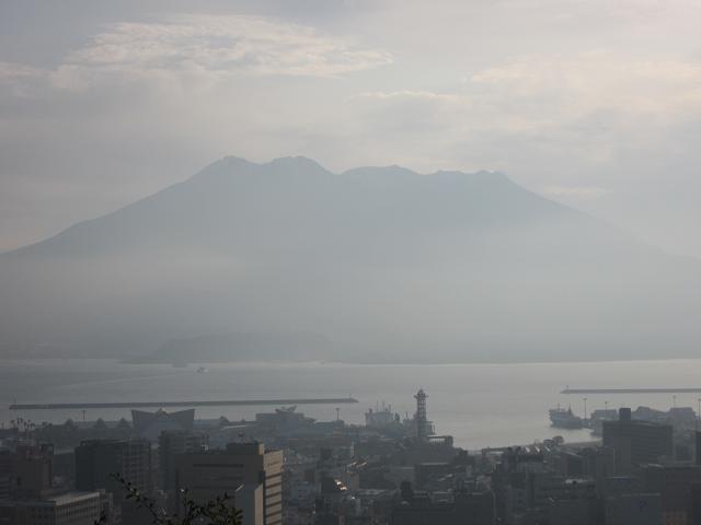 2日目!朝!桜島!