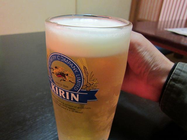 晶栄寿司 生ビール!