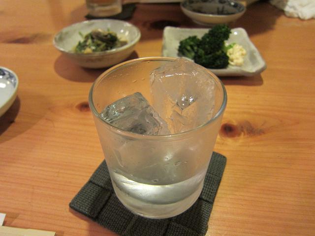 旬菜よこやま 焼酎ロック