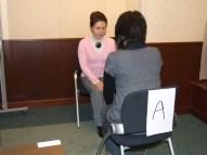自己発見まつり 内観実習の様子 20090228