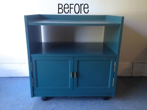 On Deck: TV cart? Storage shelf? Stay tuned as we turn it into one heck of a bar cart.