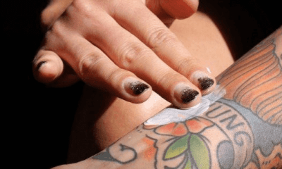 peeling tattoo