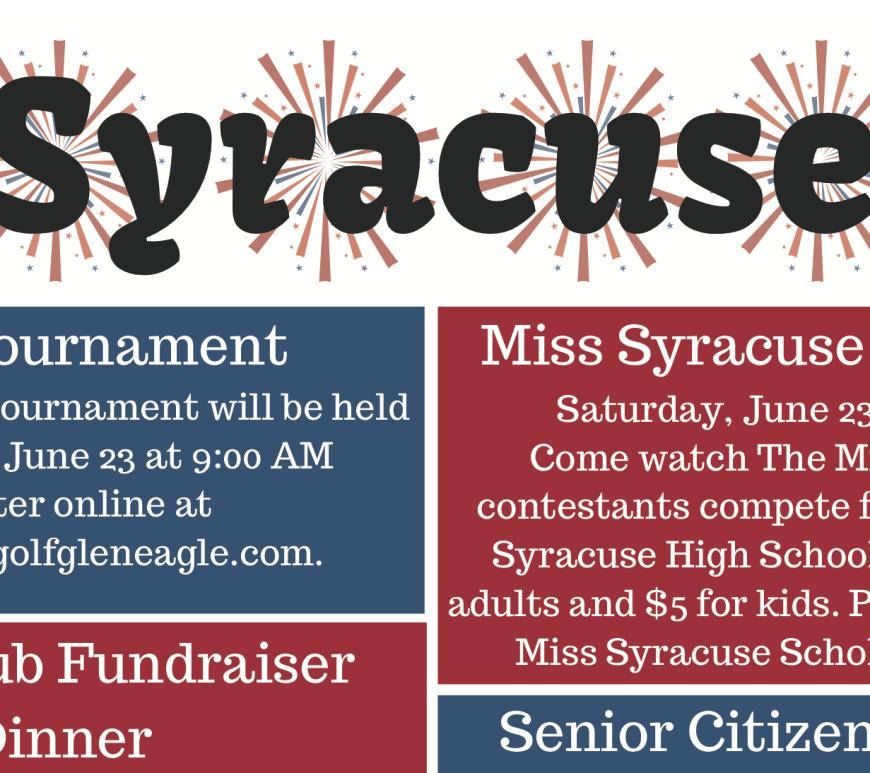 Heritage Days Syracuse Event Schedule