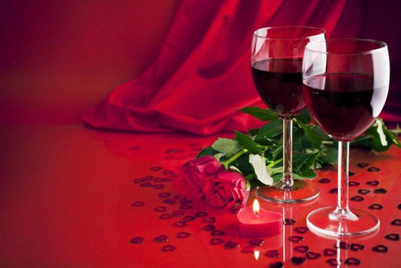 Valentine's Day Red Wine