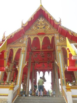The Temple near floating market