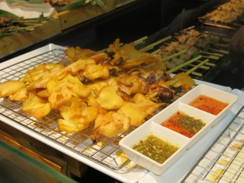 Grilled Squid with spicy sauce (looking at it, I wanna eat more)