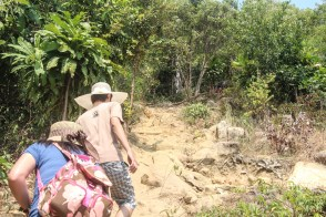 Not only steep, but we were about to get through into the jungle too~