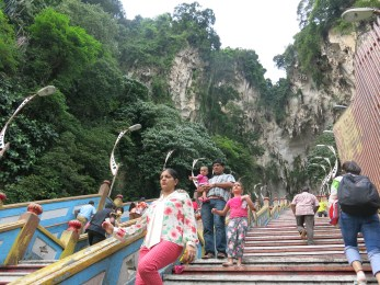 Stairs up to the Cathedral Cave - Batu Caves