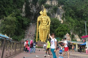 Lord Murugan in front of the Cathedral Cave