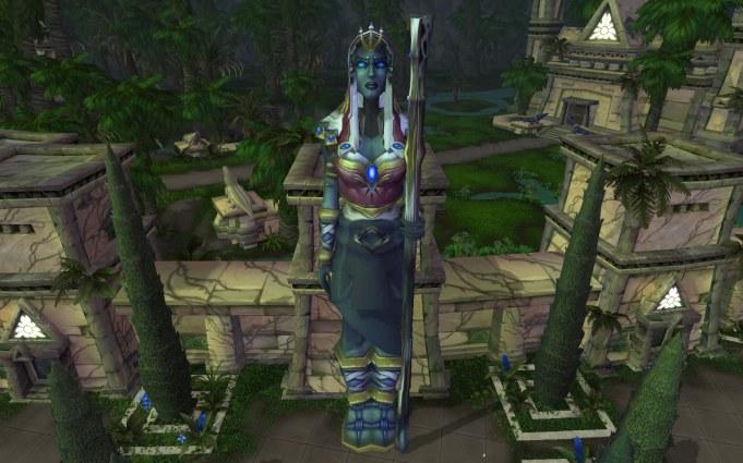 Freya? statue in Uldum