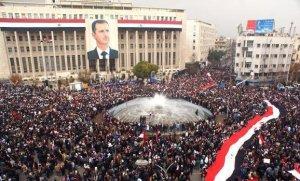 Damascus, Rally, Bashar al-Assad