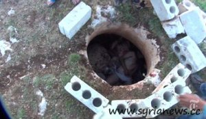 The dead bodies of the seven soldiers were thrown into this hole.