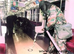 The subway of Tokyo was cleaned after the terrorist attack of Sarin.