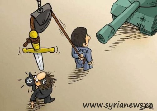 Syria holding Israel by the neck