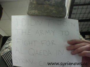 US Soldier rejects to fight in Syria for al-Qaeda.