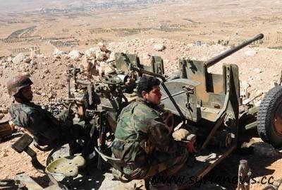 SAA Unit Operating a Machine Gun in Qalamon